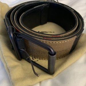 Mens Burberry Leather Belt